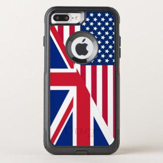 アメリカ人および英国国旗iPhone 7のプラスの箱に印を付けます オッターボックスコミューターiPhone 8 Plus/7 Plusケース