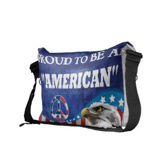 アメリカ人があること誇りを持った クーリエバッグ