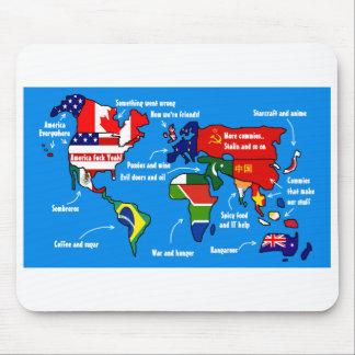 アメリカ人に従う世界-マウスパッド マウスパッド