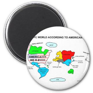 アメリカ人に従う世界 マグネット