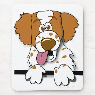 アメリカ人のブリッタニースパニエル犬のかわいい漫画犬 マウスパッド