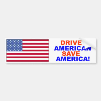 アメリカ人の保存アメリカのバンパーステッカーを運転して下さい バンパーステッカー