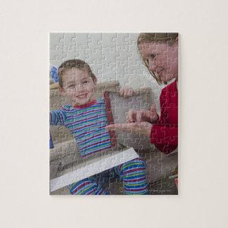 アメリカ人の単語「計算機」に署名している女性 ジグソーパズル