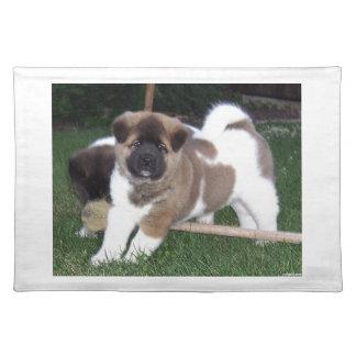 アメリカ人の秋田の小犬 ランチョンマット