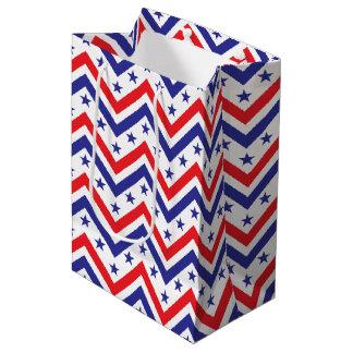 アメリカ人の7月赤く白くおよび青の4日のパーティ ミディアムペーパーバッグ