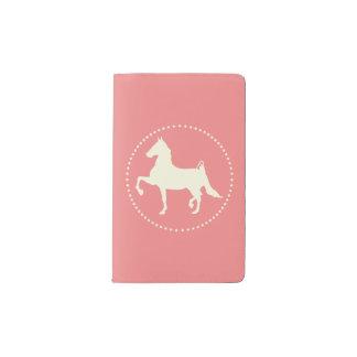 アメリカ人のSaddlebredの馬のシルエット ポケットMoleskineノートブック