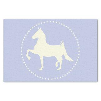 アメリカ人のSaddlebredの馬のシルエット 薄葉紙