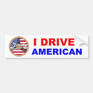 アメリカ人を運転して下さい バンパーステッカー