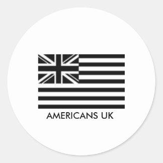 アメリカ人イギリスのデカール ラウンドシール