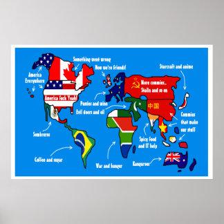 アメリカ人ポスターに従う世界 ポスター