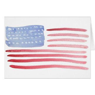 アメリカ人米国の旗 カード