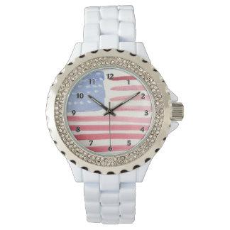 アメリカ人米国の旗 腕時計