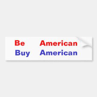、アメリカ人、アメリカ買物あって下さい バンパーステッカー