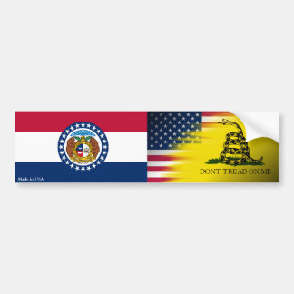 アメリカ人、ガズデン及びミズーリの旗のバンパーステッカー バンパーステッカー