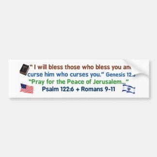 アメリカ人-神およびイスラエル共和国を賛美して下さい バンパーステッカー