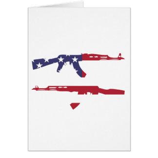アメリカ人Flag_Guns カード