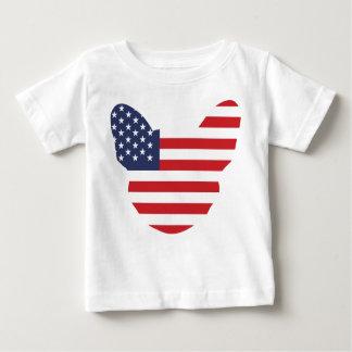 アメリカ人Frenchie ベビーTシャツ