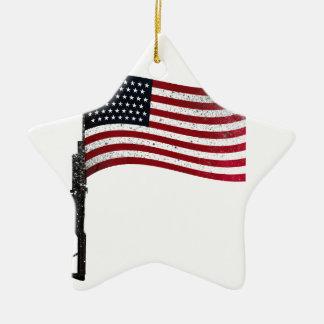アメリカ人Gunflag セラミックオーナメント