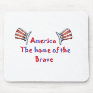 アメリカ勇敢のの家 マウスパッド