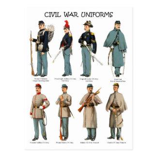 アメリカ南北戦争のユニフォーム ポストカード