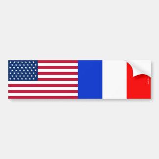 アメリカ及びフランス語バンパーステッカーに印を付けます バンパーステッカー