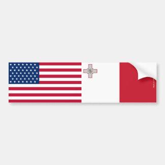 アメリカ及びマルチーズバンパーステッカーに印を付けます バンパーステッカー