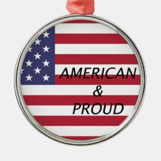アメリカ及び誇りを持った メタルオーナメント