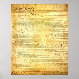 アメリカ合衆国憲法のヴィンテージのキャンバスのプリント ポスター