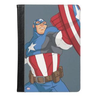 アメリカ報復者の漫画の大尉のキャラクターの姿勢 iPad AIRケース