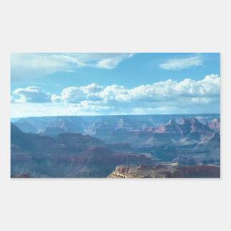 アメリカ壮大渓谷の山地の景色 長方形シール