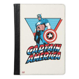 アメリカ大尉のレトロのキャラクターのグラフィック iPad AIRケース