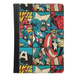 アメリカ大尉のレトロの漫画本パターン iPad AIRケース