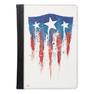 アメリカ大尉のレトロの盾の絵筆の打撃 iPad AIRケース