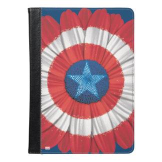 アメリカ大尉の盾はデイジーの花のスタイルを作りました iPad AIRケース