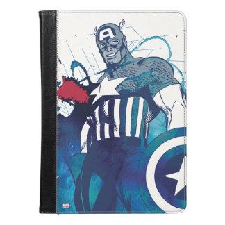 アメリカ大尉インク(ばちゃばちゃ)跳ねるのグラフィック iPad AIRケース