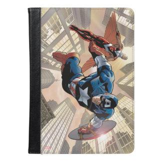 アメリカ大尉及び《鳥》ハヤブサの漫画のパネル iPad AIRケース