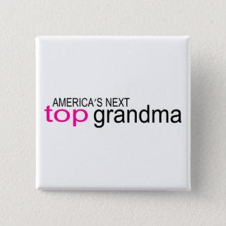 アメリカ大陸の次の上の祖母 5.1CM 正方形バッジ