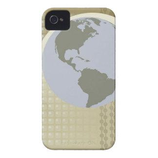 アメリカ大陸を示す地球 Case-Mate iPhone 4 ケース