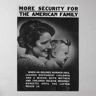 アメリカ家族のためのより多くの保証 ポスター