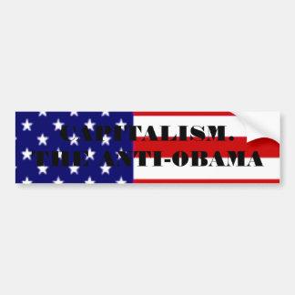 アメリカ旗、資本主義。 ANTI-OBAMA バンパーステッカー