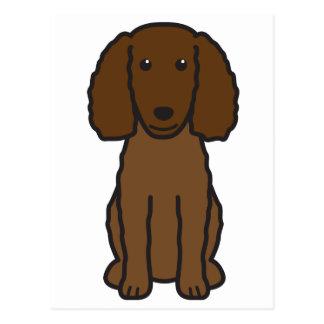 アメリカ水スパニエル犬犬の漫画 ポストカード