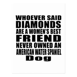 アメリカ水スパニエル犬犬の親友のデザイン ポストカード