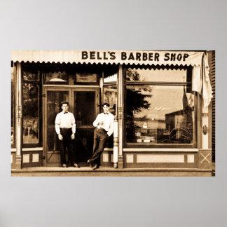 アメリカ理髪店のヴィンテージのレトロ プリント