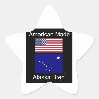 """""""アメリカ生まれ。アラスカは""""旗および愛国心を繁殖させました 星シール"""
