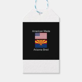 """""""アメリカ生まれ。アリゾナは""""旗および愛国心を繁殖させました ギフトタグ"""