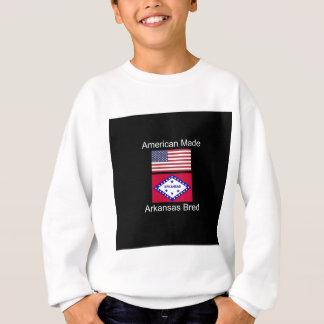 """""""アメリカ生まれ。アーカンソーは""""旗のデザインを繁殖させました スウェットシャツ"""