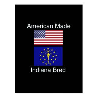 """""""アメリカ生まれ。インディアナは""""旗および愛国心を繁殖させました ポストカード"""
