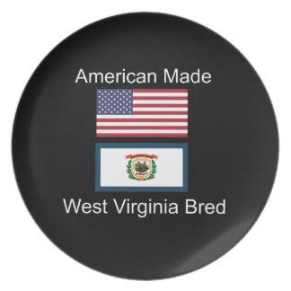 """""""アメリカ生まれ。ウェストヴァージニアは""""旗のデザインを繁殖させました プレート"""