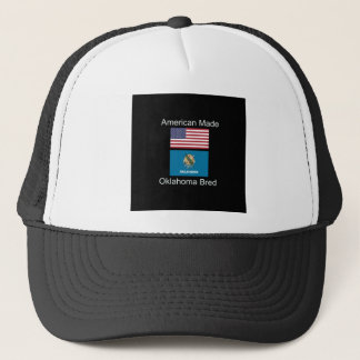 """""""アメリカ生まれ。オクラホマは""""旗のデザインを繁殖させました キャップ"""