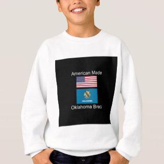 """""""アメリカ生まれ。オクラホマは""""旗のデザインを繁殖させました スウェットシャツ"""